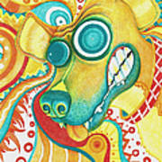 Chaotic Canine Poster by Shawna Rowe