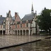 Chapel And Courtyard Chateau Blois Poster