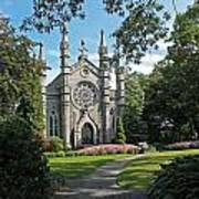 Chapel At Mt Auburn Cemetery Poster