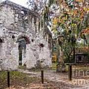 Chapel Of Ease Ruins And Mausoleum St. Helena Island South Car Poster