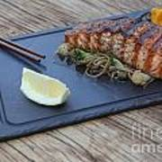 Char Grilled Salmon Poster