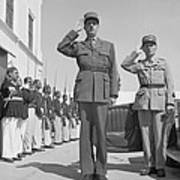 Charles De Gaulle In Carthage Tunisia 1943 Poster