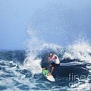 Charles Martin Pro Surfer In Hawaii Poster