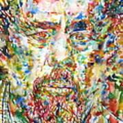 Charles Mingus Watercolor Portrait Poster
