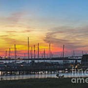 Charleston Harbor Sunset Poster