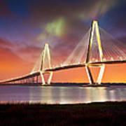 Charleston Sc - Arthur Ravenel Jr. Bridge Cooper River Poster by Dave Allen