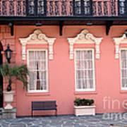 Charleston South Carolina - The Mills House - Art Deco Architecture Poster