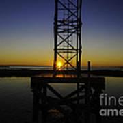 Charleston Water Sunset Poster