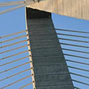 Charleston's Cable Bridge Geometric Abstract Poster