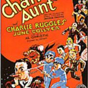 Charleys Aunt, Charles Ruggles Poster