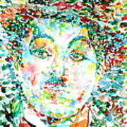 Charlie Chaplin - Watercolor Portrait Poster
