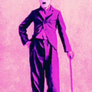 Charlie Chaplin The Tramp 20130216 Poster by Wingsdomain Art and Photography
