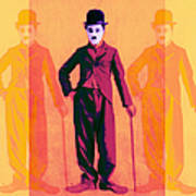 Charlie Chaplin The Tramp Three 20130216 Poster by Wingsdomain Art and Photography
