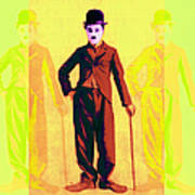 Charlie Chaplin The Tramp Three 20130216p30 Poster by Wingsdomain Art and Photography