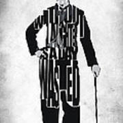 Charlie Chaplin Typography Poster Poster