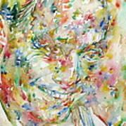 Charlie Parker Watercolor Portrait Poster