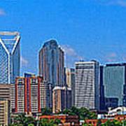 Charlotte Panorama Poster