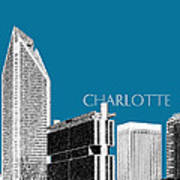 Charlotte Skyline 1 - Steel Poster by DB Artist