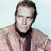 Charlton Heston In Pony Express  Poster by Silver Screen