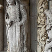 Chartres Cathedral Female Pilgrim Poster