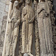 Chartres Cathedral Saints Poster