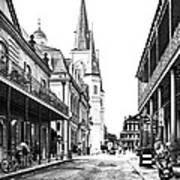 Chartres St In The French Quarter 3 Poster