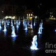 Chartres Street Fountains Poster