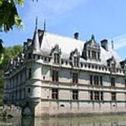 Chateau Azay-le-rideau From The Gardens  Poster
