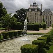 Chateau De Cheverny With Garden Fountain Poster