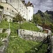Chateau De Gruyeres Poster