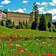 Chateau Lake Louise In Banff Np-alberta Poster