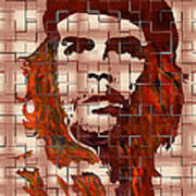 Che Guevara Digital From Watercolor Painting Poster