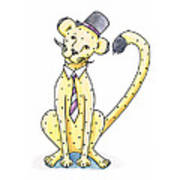 Cheetah In A Top Hat Poster