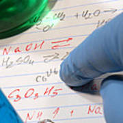 Chemistry Formulas In Science Research Lab Poster