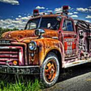 Cherokee Fire Truck Poster