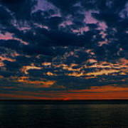 Chesapeake Sunset Clouds Poster