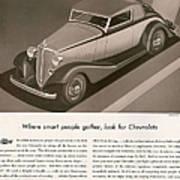 Chevrolet 1933 1930s Usa Cc Cars Poster