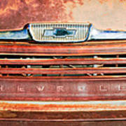 Chevrolet 31 Apache Pickup Truck Grille Emblem Poster