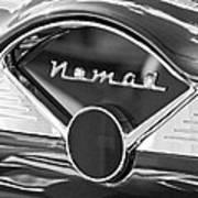 Chevrolet Belair Nomad Dashboard Emblem Poster