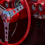 Chevrolet Corvette Red 1962 Poster