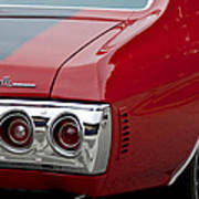 Chevrolet Chevelle Ss Taillight Emblem 3 Poster