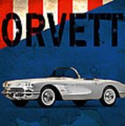 Chevrolet Corvette 1958 Poster