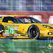 Chevrolet Corvette C6r Gte Pro Le Mans 24 2012 Poster