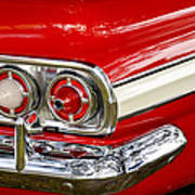 Chevrolet Impala Classic Rear View Poster