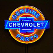 Chevrolet Neon Sign Poster