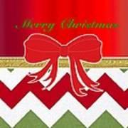 Chevron Christmas Poster