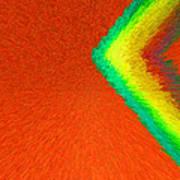 Chevron Rainbow Orange C2014 Poster