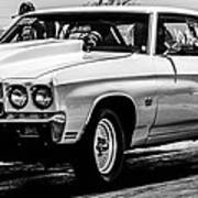 Chevy Chevrolet Chevelle Ss Burning Rubber Poster