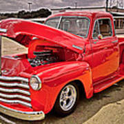 Chevy Hot Red Poster