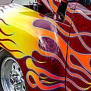 Chevy Pickup Flames Poster